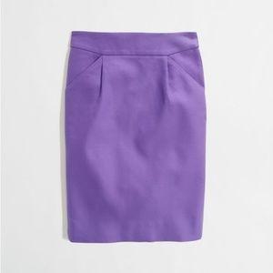 J Crew Factory light purple cotton pencil skirt